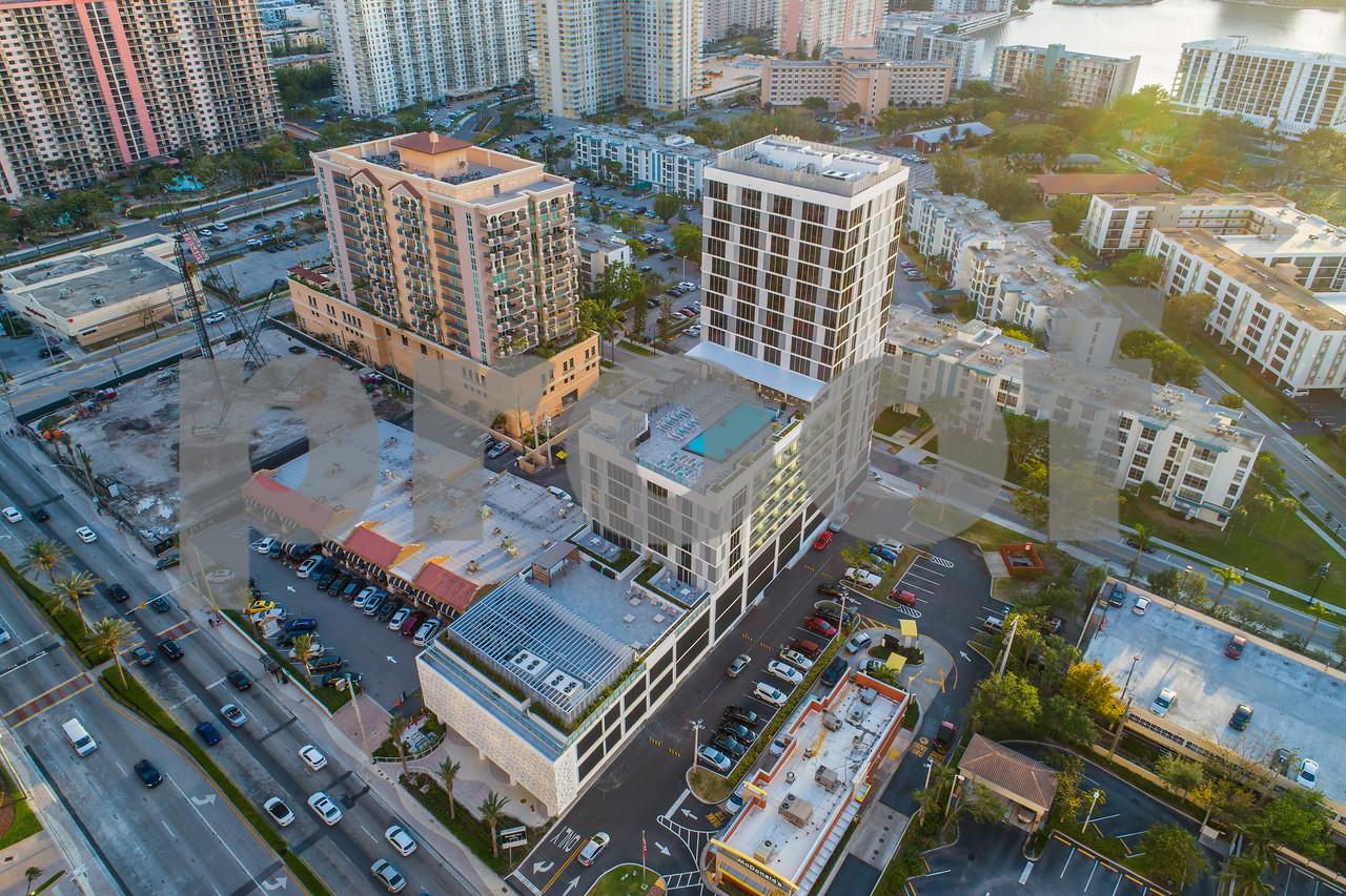Aerial photo Residence Inn by Marriott Miami Sunny Isles Beach