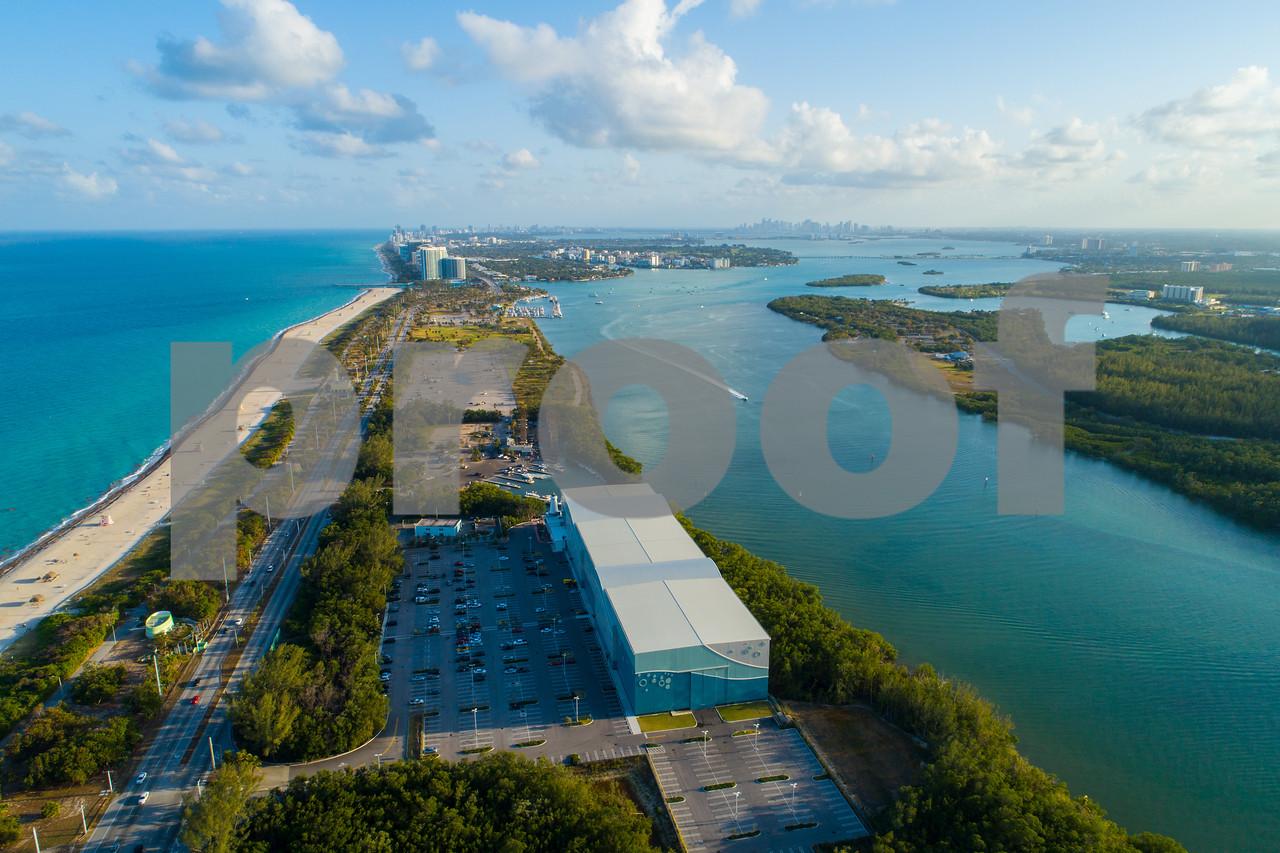 Aerial image Haulover Florida Biscayne Bay coastal island