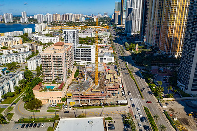 Aerial photo urora construction site Sunny Isles Beach FL