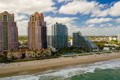 Aerial photo Fort Lauderdale Beach residential condominiums