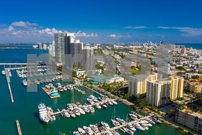Scenic Miami Beach Marina boats and buildings
