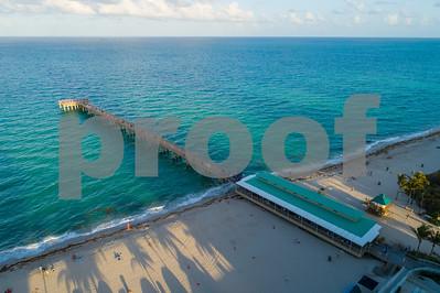 Sunny Isles Beach fishing pier aerial image