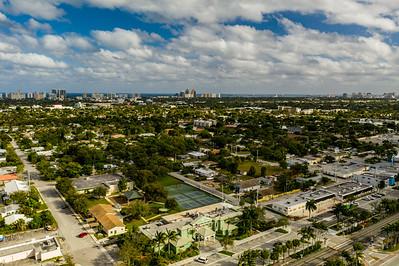 Drone image Oakland Park FL USA