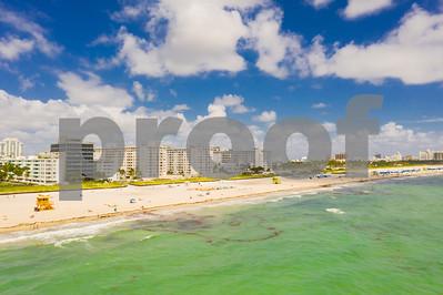 Aerial photography Miami Beach FL USA