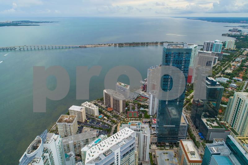 Aerial Brickell on the Bay Miami Florida
