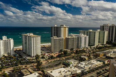 Aerial drone photo Galt Ocean Mile Florida