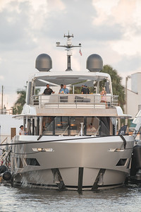 Prospects viewing luxury yachts at the Fort Lauderdale International Boat Show