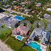 Aerial drone image of waterfromt mansions in Boynton Beach FL