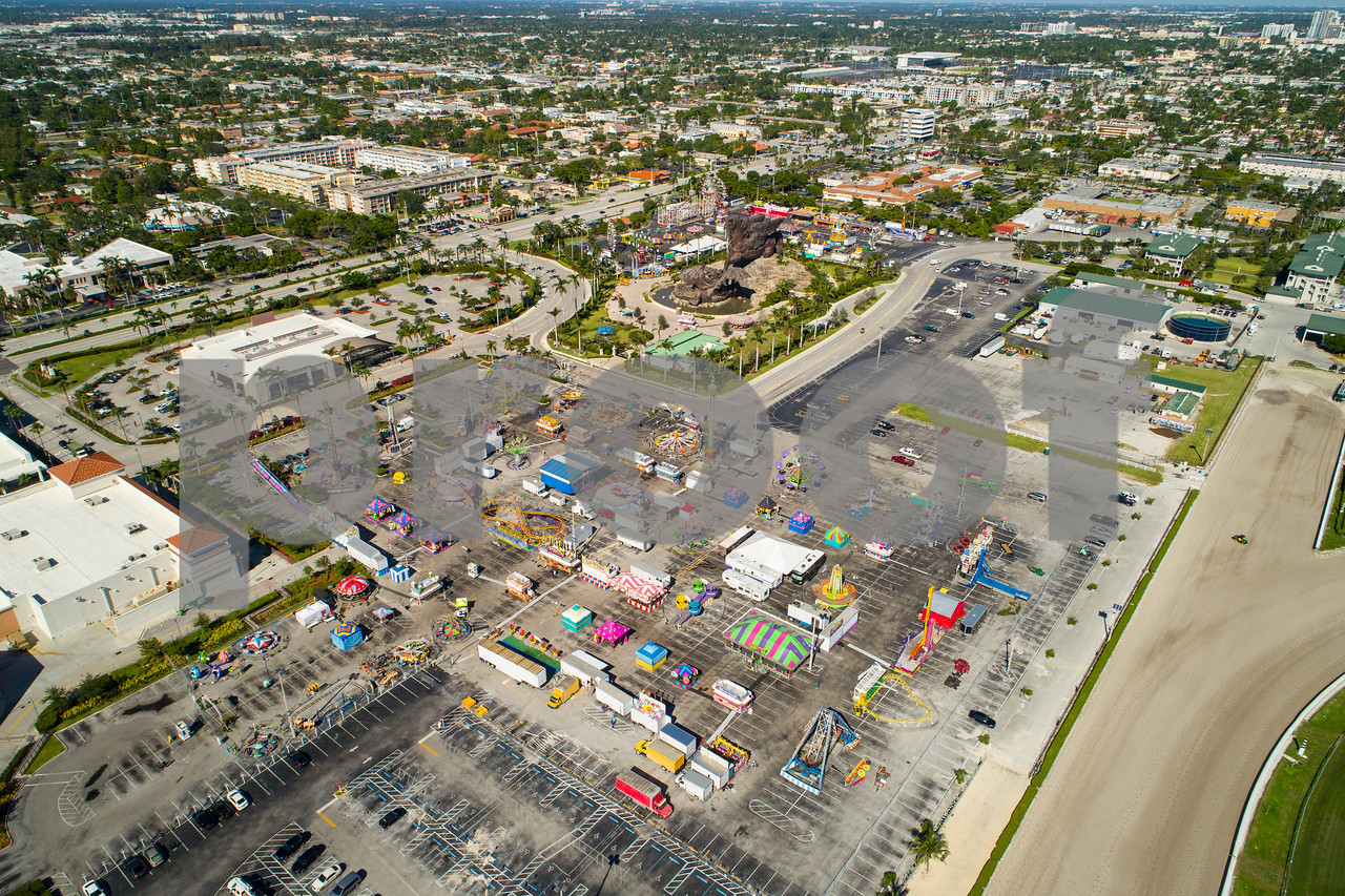 Aerial image of the Broward County Fair at Gulfstream Park