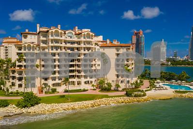 Aerial luxury condominiums on Fisher Island