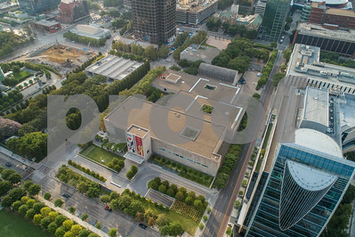 Aerial photo of the Dallas Museum of Art