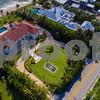 Boca mansions Florida aerial image
