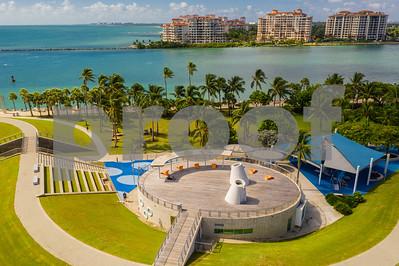 Drone image Miami Beach South Pointe Park