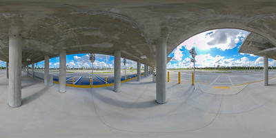 360 vr spherical photo of a bus stop station