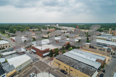 Aerial Downtown Sulpher Springs Texas