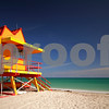 Miami Beach orange lifeguard station