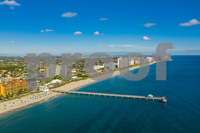 Aerial photo Deerfield Beach Florida coastline