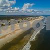 Aerial St Augustine Beach FL USA