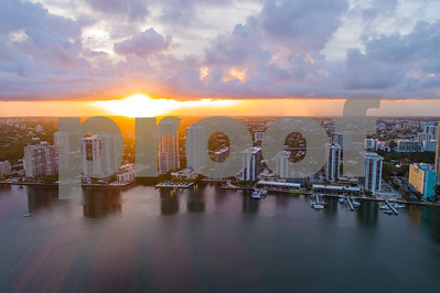 Sunset Brickell aerial Miami