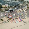 Aerial photo Florida Aids Walk concert Fort Lauderdale Beach spring break