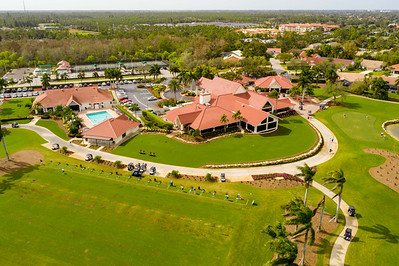 Aerial photo golf course country club naples FL