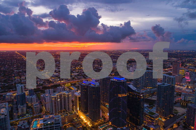 Sunset over Miami Brickell