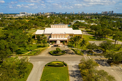 Aerial photo War Memorial Auditorium Fort Lauderdale FL