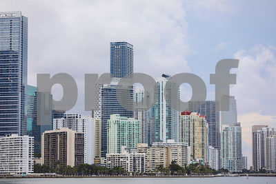 Far shot Brickell Miami Florida