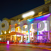 Miami Beach Florida night deco hotels lit neon