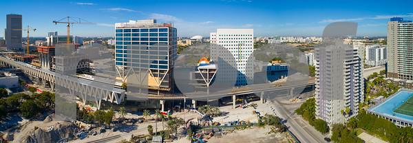 Brightline Downtown Miami Central Stateion platform construction site