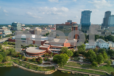 Aerial photo Little Rock Arkansas Statehouse Convention Center