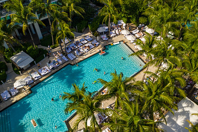 W Hotel swimming pool aerial photo Miami Beach