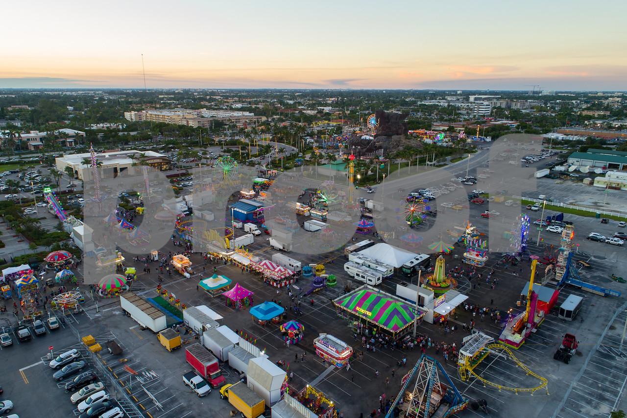 Aerial image Broward County Fair Hallandale FL