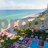 Aerial Sunny Isles Beach Florida condominium swimming pools