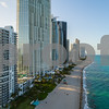 Drone above Sunny Isles Florida USA