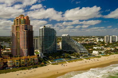 Aerial photo Auberge Beach Residences Fort Lauderdale FL USA