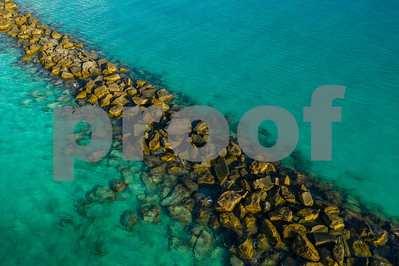 Tropical Waters and rock jetty