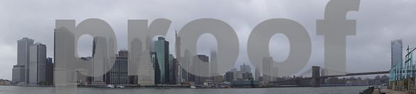 Panorama of Manhattan New York City USA