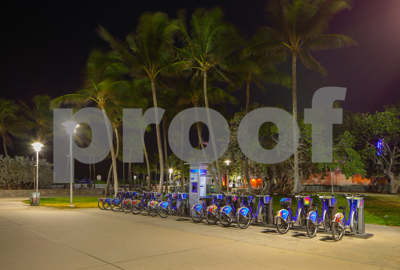Citibike rental station Miami Beach Ocean Drive