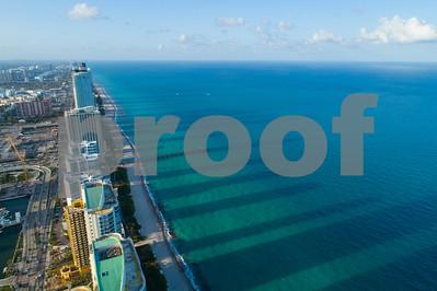Aerial drone image Sunny Isles Beach Florida