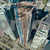 1000 Museum Miami near completion 2018 aerial drone image