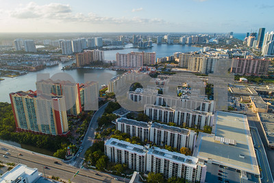 Aerial image Sunny Isles Beach Florida cityscape residential architecture
