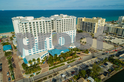 Margaritaville Hollywood Beach Resort Florida aerial photo
