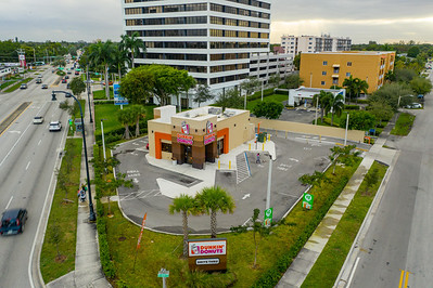 Aerial photo Dunkin Donuts Miami FL Biscayne Boulevard