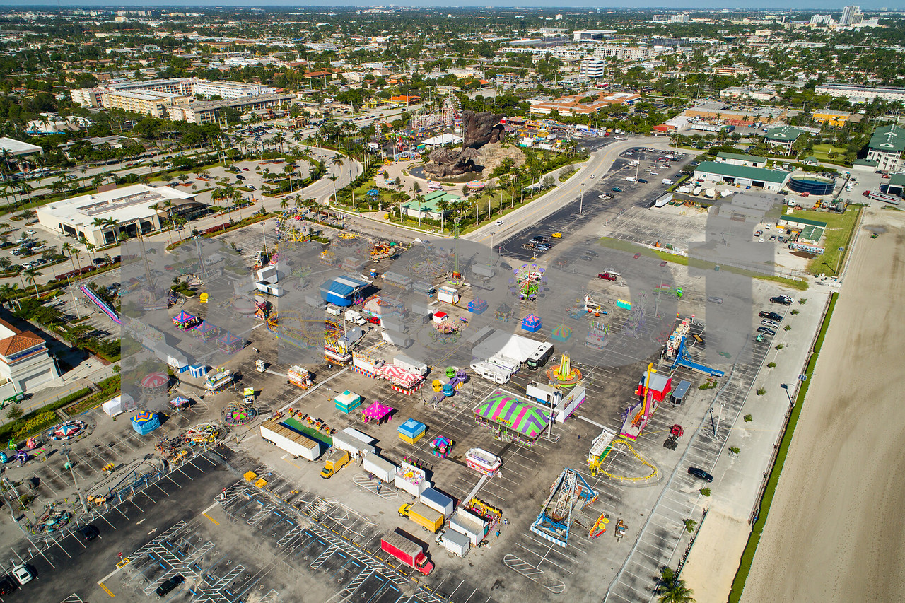 Aerial image of the Broward County Fair and expo