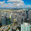 Aerial image of Brickell Miami FL