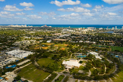 Aerial photo Holiday Park Fort Lauderdale FL USA