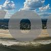 Aerial panorama St augustine Beach FL