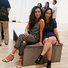 Cindy Rivas and Andreea Arama pose for a photo at the Whitney Museum on a Friday night out with the fellows.