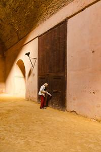 What's behind the brown door?